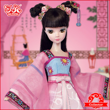 Chinese Plastic Doll Toys Kurhn Chinese Princess Doll Young Mulan 9093