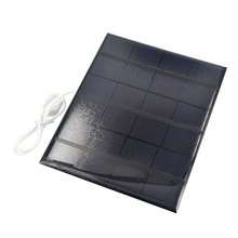 2016 Portable Dual USB Solar Panel Battery Charger 5V 3.6W 500mA for Power Bank Supply with LED Light Fasion Travelling