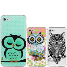 Ultrathin cartoon owl Cover Soft TPU Silicone Transparent case Coque For iphone 4 4s 5 5s se 5C 6 6s 7 plus Fundas