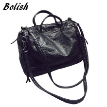 Bolish Fashion Waterproof Pu Leather Crossbody Bag Vintage Women Messenger Bag Motorcycle Shoulder Bag Large Women Handbag(China)