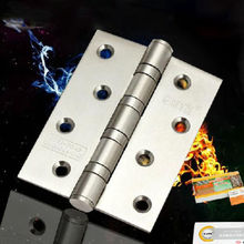 "4"" 4 Ball Bearing Authentic Brushed Stainless Steel Indoor Door Hinges Arm 2Pcs"