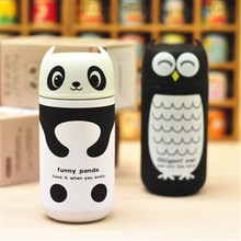 Cute Panda&Owl Stainless Steel Vacuum Cup Portable Thermal Cup Warmer Water Bottle Insulated Flasks Travel Thermocup Coffee Mug