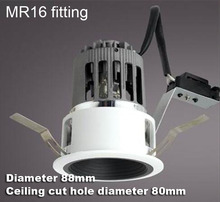 2.5 inch 2.5'' MR16 downlight fixture white and black bulb fitting lamp fixture MR16 bulb holder