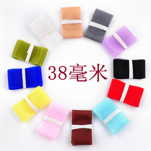 DIY transparent single face 38mm satin Organza ribbons belt gift packing wedding decoration 12yards(China)