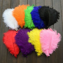 Free shipping / 50 - PCS full natural ostrich feather embellished with feathered feather decoration/20-25cm