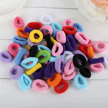 Hot 100pcs/pack Colorful Child Kids Girl Bright Hair Holders Rubber Bands Hair Elastics Accessories Girl Charms Tie Gum Gift