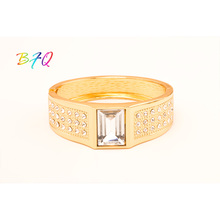 Mix Styles Gold -color Cuff Bracelet For Women Ladies Romantic Rhinestone Mosaic Bangle Crystal Jewelry Gift(China)