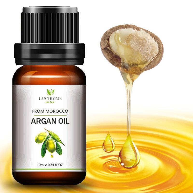 Genuine Morocco Argan Oil Hair Care Keratin 100% PURE Glycerol Nut Oil Hair Oil Mask Essential Coconut Oil Cuticle 10ml 6