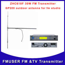 ZHC618F-30W(2U) FM wireless Transmitter small professional fm radio station broadcasting with DP100 outdoor antenna
