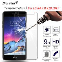 9H Premium Tempered Glass For LG K4 K8 K10 2017 Version Screen Protector Toughened protective Film Protection Guard Cover Case