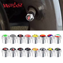 4pcs/set fit for audi sline seat fr vw gti toyota trd nismo skoda vrs Spain Japan tire valve Motorcycle Automobiles car styling
