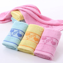 Pure Cotton Towel Soft Twist 14 LOVE Hearts Wash A Face To Face Towel Labor Insurance Benefits 5