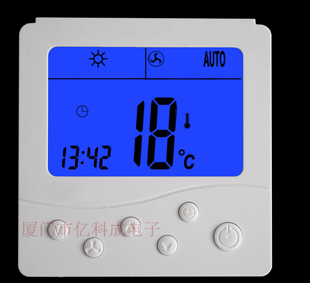 Central air-conditioning fan coil thermostat temperature control three-speed switch panel ELSONIC YKC306<br>