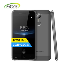 Homtom HT37 Pro Mobile Phone 5.0 Inch HD Double Speaker Mtk6737 Quad Core Android 7.0 3GB+32GB 3000mAh Fingerprint 4G Smartphone