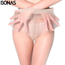 Buy BONAS Ladies 12D Spider Tights Tear Resistant Nylon Pantyhose Women Summer Sexy Breathable Elastic Tights Slim Stockings Female