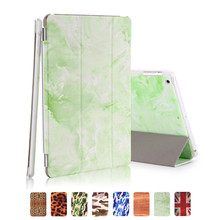 for ipad mini 3 smart case green marble pu leather magnet auto sleep with plastic back shell 7.9 inch for apple ipad mini 2