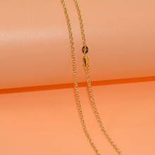 Gold Filled Necklace Chains With Lobster Clasps Set Fashion Cross Stylish Unisex Chains Jewelry 2MM 1pcs Xl039(China)