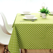 Rustic green big jade dining table cloth thickening canvas cotton tablecloth custom retangle square and round table cover(China)
