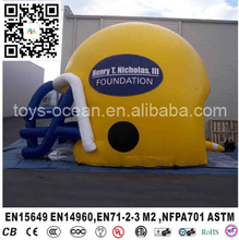 American Football Inflatable Helmet, Inflatable Yellow Football Helmet for adults(China)