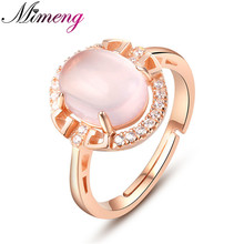 Ring Silver 925 Sterling Silver Jewelry Lovely Female Models Natural Ross Quartz Open Design Ring Top Quality