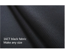 Canvas 16CT Black  150X50cm Or Make Any Size Factory Shop Fabric Cross Stitch Aida Cloth Available
