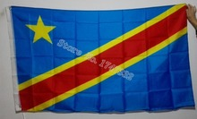 Republic of the Congo Africa National Flag All Over The World hot sell goods 3X5FT 150X90CM Banner brass metal holes