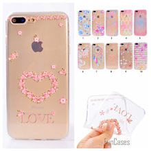 Cute Phone Case For iPhone 7 6 6S Plus Coque Colorful Dandelion Style Soft TPU Capa For iPhone 5 5S SE Fundas Rose Back Cover(China)