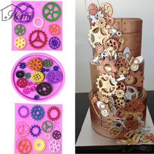 Beautiful Steampunk Gears Cake Mold Fondant Mould Chocalate Mould Soap Mold Confeitaria Pastry Candy Sugar Jelly Pudding Decor