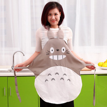 2017 Creative Gifts Lovely Totoro Waterproof Oil Proof Apron Han Edition Cartoon Creative Kitchen Cooking Apron Home