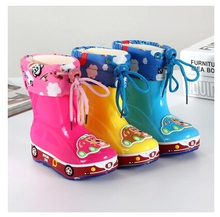 Free shipping Children's Rain Boots wellies cartoon Boys  Girls slip Baby shoes, overshoes Water shoes for Children Rubber Shoes