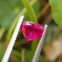 0.93 carat Natural No Heat Heart Ruby Loose Stone GIL certificate(China)