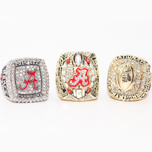 2015 ALABAMA SEC, COTTON BOWL, COLLEGE FOOTBALL PLAYOFF NATIONAL CHAMPIONSHIP RINGS, 3 RINGS AS A SET US SIZE 11