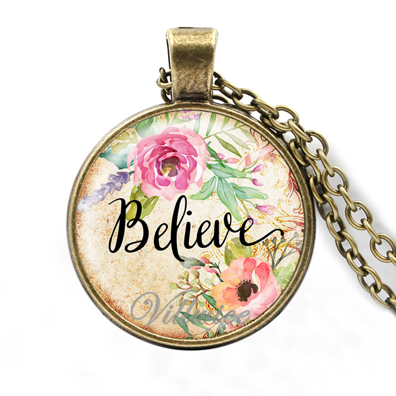 Bracelet BElieve in yourself Inspirational Pendant Glass Cabochon Woven Bracelet Love Hope Quote Jewellery.
