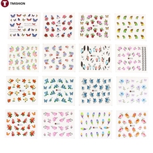 50 Sheets/Set 5*6.5cm Mixed Flower Water Transfer Nail Stickers Decals Art Tips Decoration Manicure Stickers Ongles