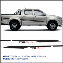 2 PC hilux side stripe graphic Vinyl sticker for TOYOTA HILUX VIGO CHAMP2011-2014(China)