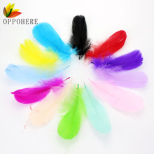 OPPOHERE Wholesale Bloodfang color 100 pcs quality natural goose feathers, 5-7inches / 13-18cm DIY jewelry decoration13 Colors(China)