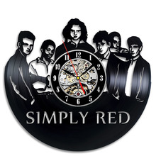 Simply Red Home Vinyl Record Clock Wall Art Room Decor Gift