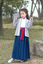 3 PCS Kids Chinese Traditional Costume Ancient Vintage Dress Girl Hanfu Clothing for Stage Performance Tang Dynasty Cosplay 89