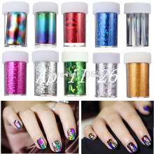 10pcs/lot Design 100cm*4cm Nail Art Supplies Transfer Foil Tips Stickers Decoration Silver Gold DIY Polish Styling Tool Manicure