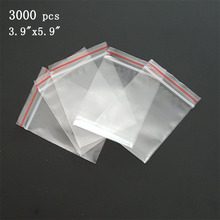 "Via DHL EMS SPSR 3,000 Pcs CLEAR ZIP SEAL BAG 3.9""x5.9"" ZIPLOCK RECLOSABLE PLASTIC BAGS  2 MIL ZIP LOCK POLY BAGGIES 10cmx15cm"