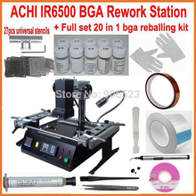 2015 New full set ACHI IR6500 Infrared BGA rework station + 20 in 1 bga reballing kit for laptop game consoles xbox ps3 repair(China)
