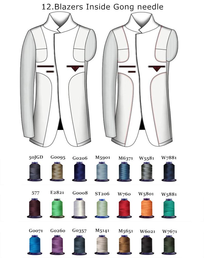 HTB1u4lzXLBNTKJjy1zdq6yScpXa6 - Custom Made Men's Wedding Suits Groom Tuxedos Jacket+Pant+Tie Formal Suits Business Causal Slim Navy Plaid Custom Suit Plus Size