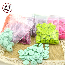 Free Ship 100pcs/lot Resin Sewing Button Round 2 Holes 10mm( 0.4in) Dia sew on button accessories handmade children button DIY