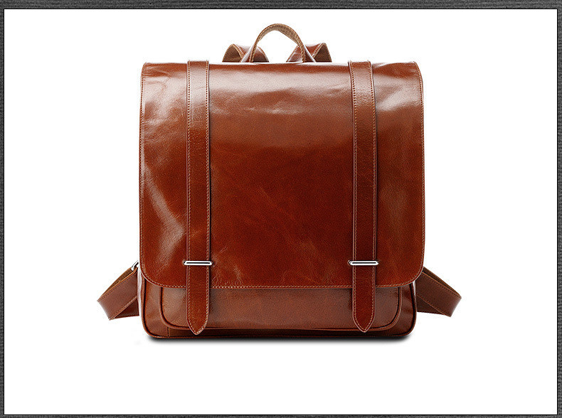 oil wax cow leather men backpack (10)