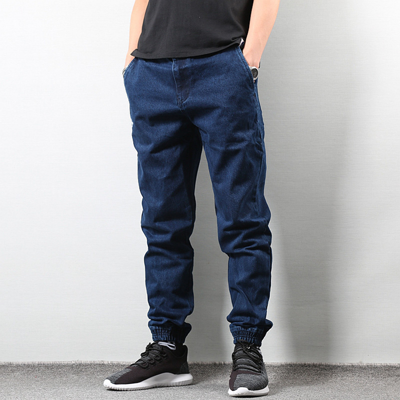 Japanese Style Fashion Men S Jogger Jeans Black Blue Color ... f678f9ca7