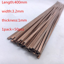 50PCS/LOT High quality Phosphor copper electrode Low temperature copper welding rods for Fridge &air conditioning copper tube(China)