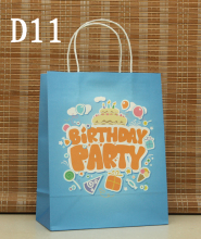 "27*21*11cm ""Birthday Party"" paper gift bag for kids Festival gift bags Paper bag with handles (ss-k2062)"