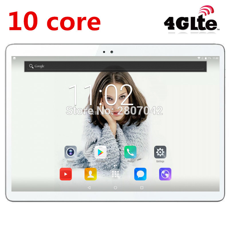 2019 Newest Android 7.0 Deca Core 10'' Tablet PC 4GB RAM 64GB ROM inch 1920X1200 8MP 6000mAh WIFI GPS 4G LTE DHL free shipping