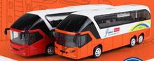 1:32 alloy car models, simulation of high school bus toy car with sound and light back to power, free shipping(China)