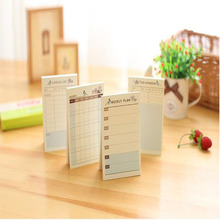 Self Adhesive Weekly Planner Stickers Monthly Planner Notepad Portable Memo Pad Check List Planner Office School Supplies 7.216(China)
